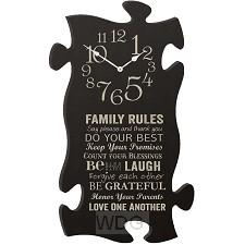 Clock - Family rules