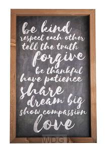 Be kind - Forgive - Share - Love