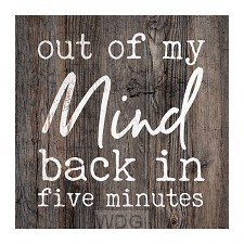 Out of my mind, back in 5 minutes
