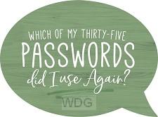 Passwords - Speech Bubble