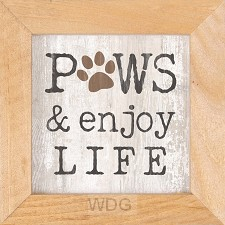 Paws and enjoy life - Framed