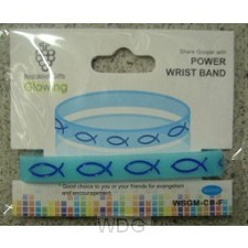 Armband vis blauw rubber
