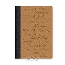 Leatherlux journal names of Jesus