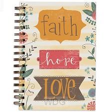 Colouring journal faith hope love