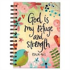 Wirebound journal God is my refuge