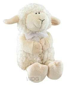 Plush praying lamb 28 cm