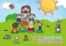 Kaart Jezus houdt van alle kinderen