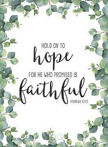 Poster A4 Hebrews 10:23