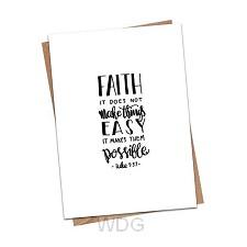 Kaart zwart-wit faith makes things possi