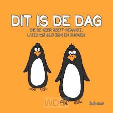 Kinderkaart psalm 118:24 pinguins