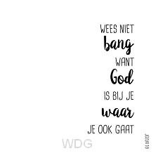Kaart zwart-wit jozua 1:9 wees niet bang