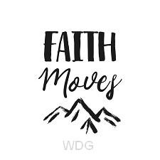 Kaart zwart-wit Faith Moves Mountains