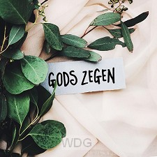 Kaart Gods zegen (briefje)