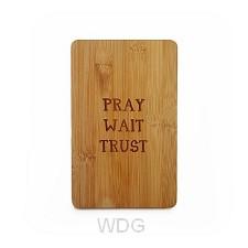 Bamboe broodplank pray wait trust