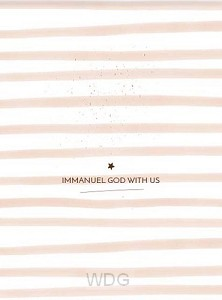 Poster kerst Immanuel God with us