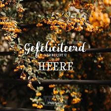 Kaart gefeliciteerd filippenzen 4:4 hsv