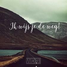 Kaart belijdenis psalm 32: 8 Ik wijs je
