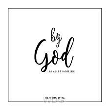 Kaart zwart-wit Matteus 19:26