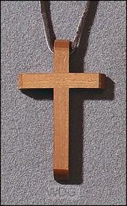 Pendant bevelled cross