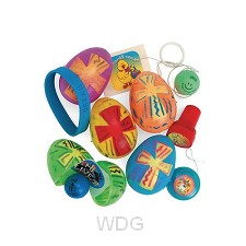 Plastic toy filled easter eggs set6