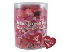 Jesus loves me - Heart shaped
