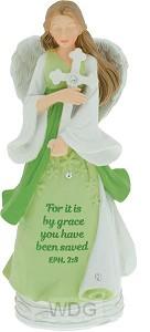 Angel figurine for it is by grace