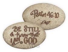 Psalm stone psalm 46:10 onverpakt