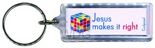 Jesus makes it right (Acrylic Keyring)