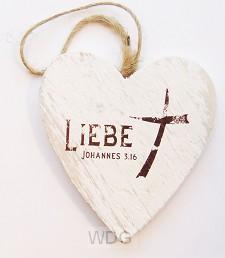 Liebe (Herzanhänger - 9,5 cm)