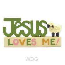 Collectable figurine Jesus loves me