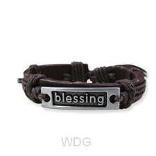 Leather bracelet blessing