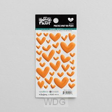 Peach - Cardstock stickers hearts