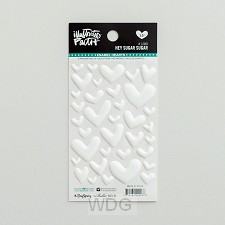 White - Cardstock stickers hearts