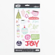 Advent - Chipboard sticker