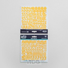 Yellow - Cardstock stickers alphabet
