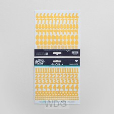 Yellow - Cardstock stickers numbers
