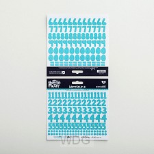 Heavenly blue- Cardstock stickers number