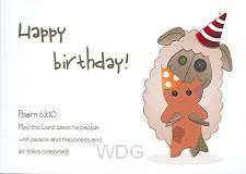 Wenskaart Happy birthday!
