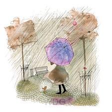 Wenskaart regen