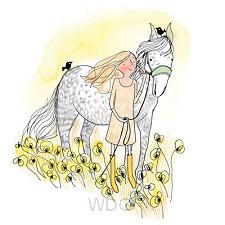 Wenskaart paard