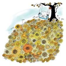 Wenskaart zonnebloemen