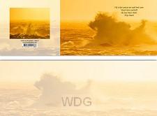 Panoramawenskaart mt leeuw op de golven