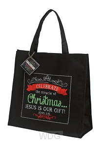 Christmas tote bag celebrate
