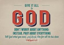Postcards Give it to God set6