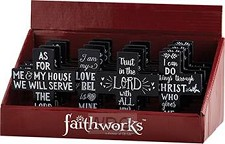 Display mini crosses chalkboard style 16