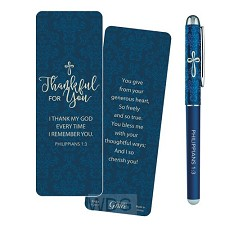 Pen/bookmark thankful for you