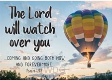 Postcard Lord watch over you set6