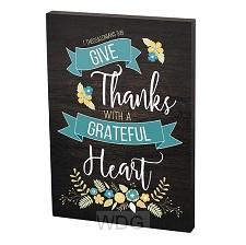 Plaque grateful heart 10x15cm