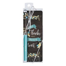 Pen/bookmark grateful heart