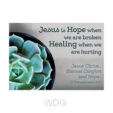 Postcard jesus is hope set6